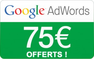 Offre 75€ AdWords