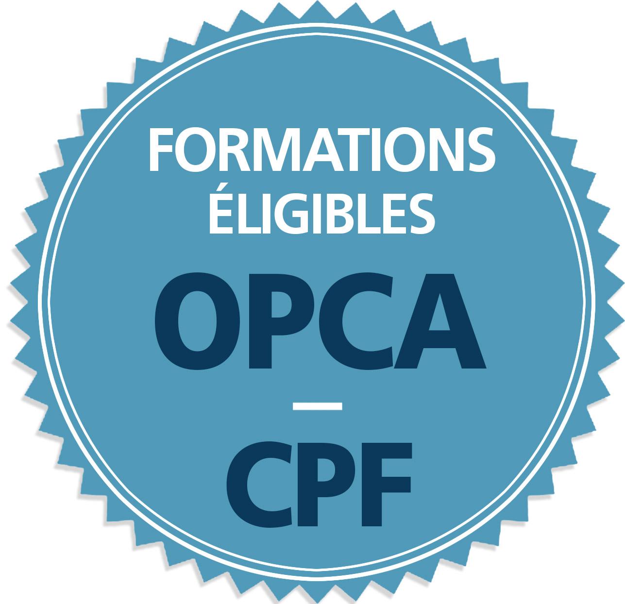 Toutes nos formations sont éligibles OPCA - CPF ou DIF